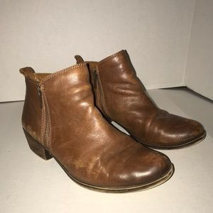 LUCKY BRAND LK-Basel Brown Leather Booties 8.5M